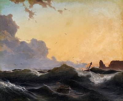 Stormy Weather Painting - Stormy Sea At Evening by MotionAge Designs