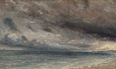 John Constable Painting - Stormy Sea, Brighton by John Constable