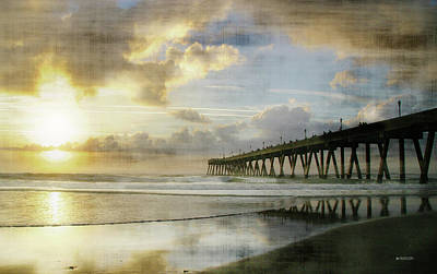 Photograph - Stormy Sunrise At Johnnie Mercer's Pier by Phil Mancuso