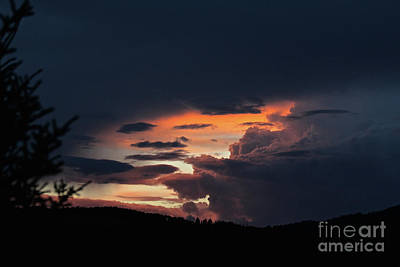 Photograph - Stormy Sunset by Ann E Robson