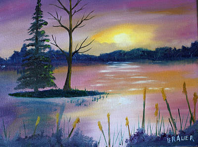 Painting - Stormy Sunset by Jack G Brauer
