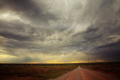 Gravel Road Photograph - Stormy Sunset by Toni Hopper