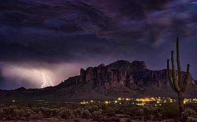 Photograph - Stormy Superstition Skies  by Saija Lehtonen