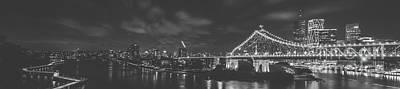 Photograph - Story Bridge, River And Newfarm Riverwalk In Brisbane, Queenslan by Rob D