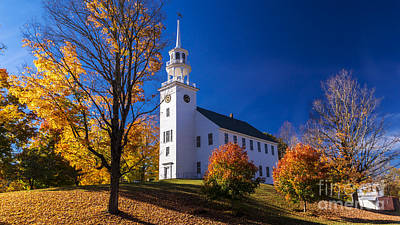 Photograph - Strafford Meeting House by Scenic Vermont Photography