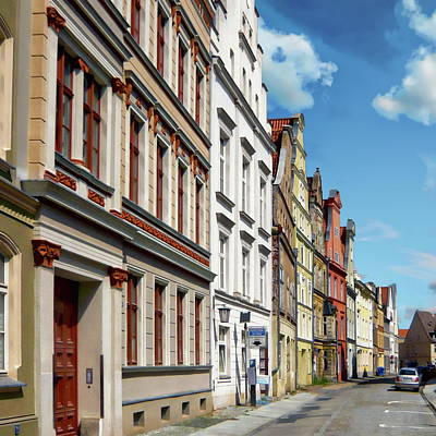 Photograph - Stralsund Street Scene by Anthony Dezenzio