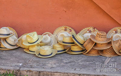 Photograph - Straw Hats by Patricia Hofmeester