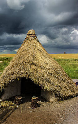 Country Cottage Photograph - Straw Huts by Martin Newman