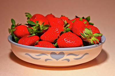 Photograph - Strawberries by Albert Seger