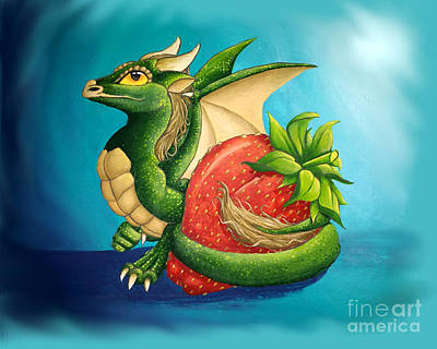 Painting - Strawberry Dragon by Mary Hoy
