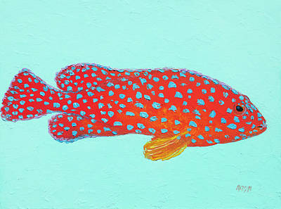 Painting - Strawberry Grouper Fish by Jan Matson