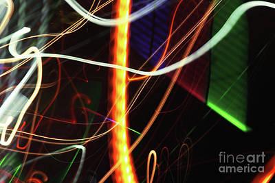 Light Photograph - Street Busy Abstract 2 by Prar Kulasekara