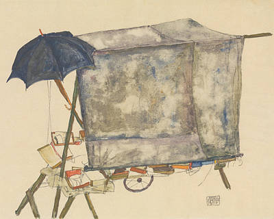 Drawing - Street Cart by Egon Schiele