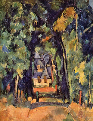 House Painting - Street In Chantilly by Paul Cezanne