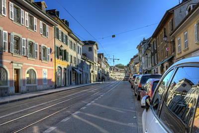 Photograph - Street In Old Carouge City, Geneva, Switzerland by Elenarts - Elena Duvernay photo