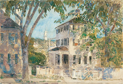Childe Hassam Painting - Street In Portsmouth by Childe Hassam