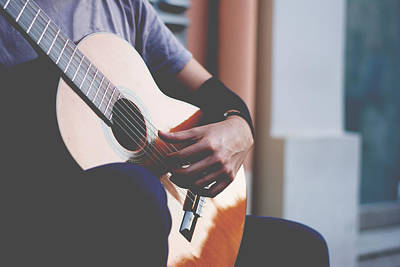 Musicians Royalty Free Images - Street musician Royalty-Free Image by Newnow Photography By Vera Cepic