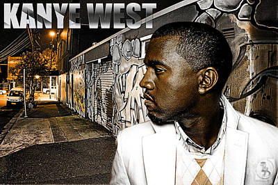 Rapper Digital Art - Street Phenomenon Kanye West by The DigArtisT
