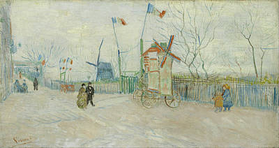 Streetscape Painting - Street Scene In Montmartre by Vincent van Gogh
