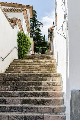 Photograph - Streets Of Ronda - Stairs by Andrea Mazzocchetti