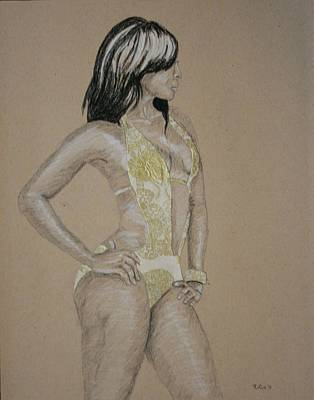 Drawing - Strike A Pose by Rufus Royster