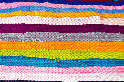 Crochet Thread Photograph - Striped Textile by Tom Gowanlock