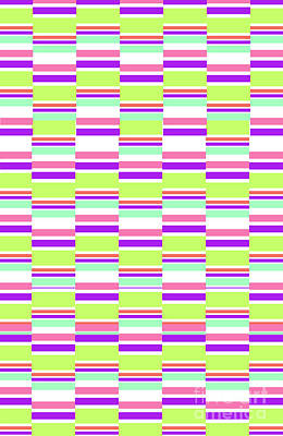 Color Block Digital Art - Stripes by Louisa Knight