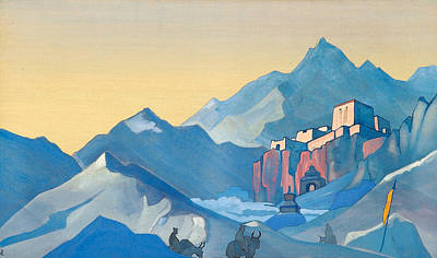 Riding Painting - Stronghold Of The Spirit by Nicholas Roerich