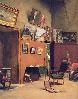 Studio In The Rue De Furstenberg Art Print by Frederic Bazille