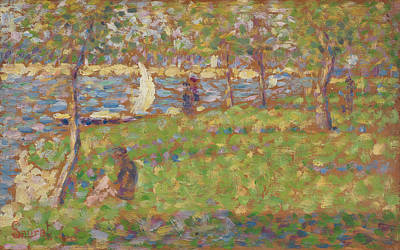 Painting - Study For La Grande Jatte by Georges Seurat