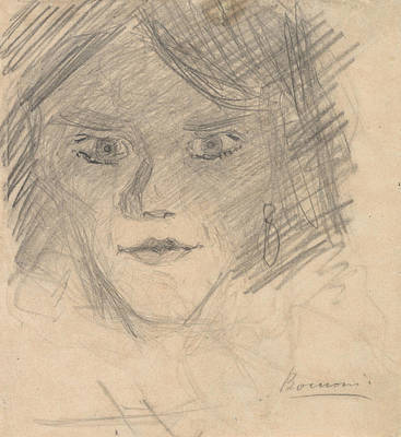 Boccioni Drawing - Study For Modern Idol by Umberto Boccioni