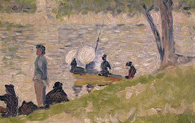 Jatte Painting - Study For Sunday Afternoon On The Island Of La Grand Jatte by Georges Pierre Seurat