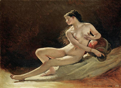 Isidore Pils Painting - Study For The Figure Of The Seine For The Opera Garnier Paris by Isidore Pils
