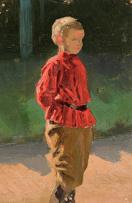 Stand Painting - Study Of A Boy by Nicholas Roerich
