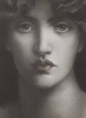 Painting - Study Of Jane Morris by Dante Gabriel Rossetti