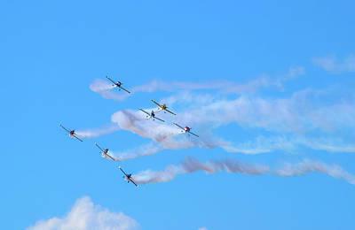 Stunt Flyer Photograph - Stunt Planes  by Lucinda  M Wickham