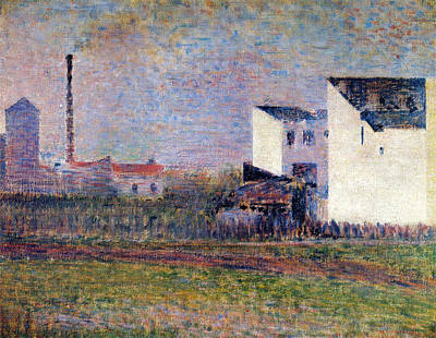 Streetscape Painting - Suburb by Georges Seurat