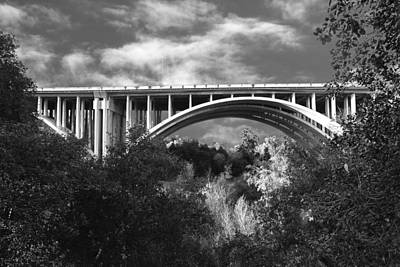 Photograph - Suicide Bridge Bw by Robert Hebert