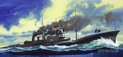 Suicide Painting - Suicide Subs by Wilf Hardy
