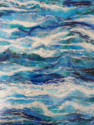 Epoxy Resin Painting - Suite Madam Blue by Jane Biven