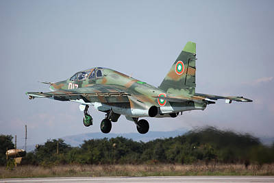 Airplane Digital Art - Sukhoi Su-25 by Super Lovely