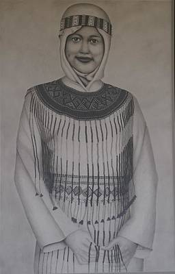 Realism Drawing - Sulawesi Girl by Brian Leverton