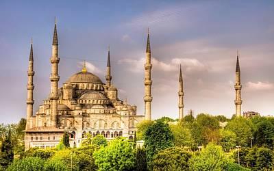 Landmark Digital Art - Sultan Ahmed Mosque by Super Lovely