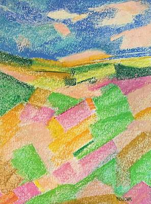 Pastel - Summer Fields  by Norma Duch