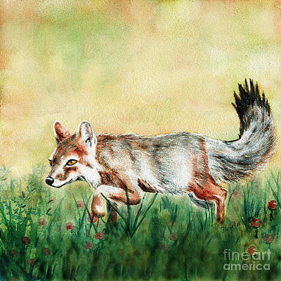 Fox Kit Painting - Summer Fox by Antony Galbraith