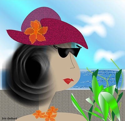 Digital Art - Summer,  I'm Ready by Iris Gelbart