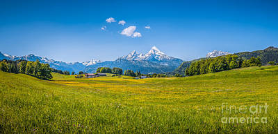 Photograph - Summer In The Alps by JR Photography