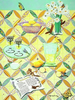 Painting - Summer Lavender Lemonade by Jennifer Lake