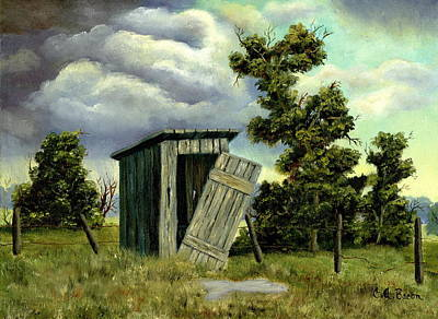 Painting - Summer Outhouse by Charlotte Bacon