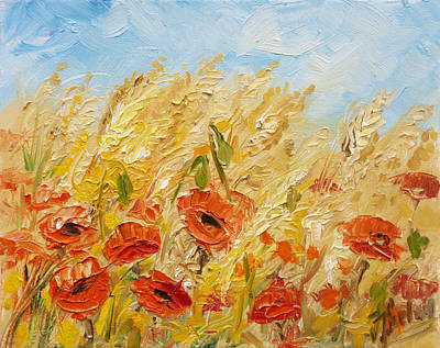 Painting - Summer Poppies by Irek Szelag